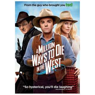 BRAND NEW DVD - A MILLION WAYS TO DIE IN THE WEST (ORIGINAL USA IMPORT CODE 1)