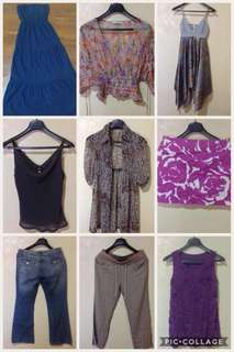 Pre loved but hardly used or never worn clothes