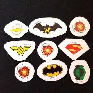 (Set 8 of 8) 8 pcs per Set DC Comics Mini LOGO Stickers