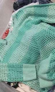 h&m mint green sweater