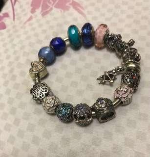 Pandora charm and bangle