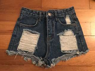 Super Cute Distressed High Waist Shorts