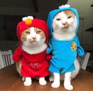 (日本預訂)芝麻街 Sesame Street 日本 狗衫 貓衫