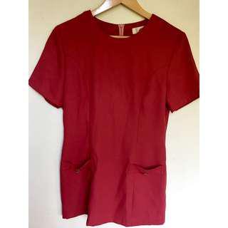 所有商品皆可議價‼️ 穿不到三次 專櫃品牌 雙口袋紅色短袖T恤