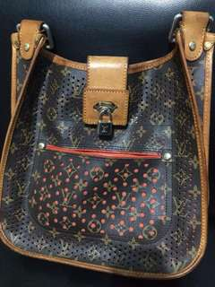 perforated lv messenger bag#korea#notguarrantyoriginal
