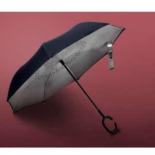 Inverted Fibreglass Windproof Double Layer Umbrella