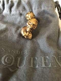 Alexander McQueen Gold Embellished with Svarovski Crystal Cufflink