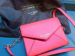 Kate Spade cross body bag 紅色信封袋斜孭單肩袋 (100%正品有塵袋)
