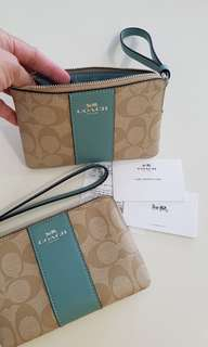 BNWT Authentic Coach coated canvas Wristlet