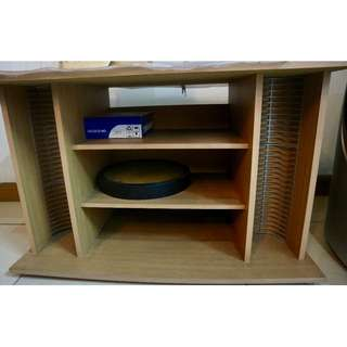TV Rack with CD shelves