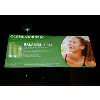 Brand new and sealed genuine Ole Henriksen Balance It All 3ml 10oz trial kit 3 sachets