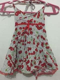 Cherry Halter Summer Dress 12-18mos