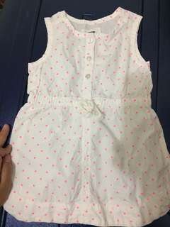BNWT Old Navy Polkadots Dress with String Belt 18-24mos
