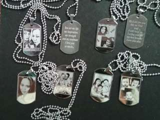 DOGTAG W/ PICTURE AND TEXT ENGRAVE