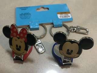 Micky & Minnie 指甲鉗連鎖匙扣一對