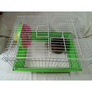 Hamster Cage (Medium) includes Wheel and Bowl