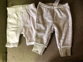 PRELOVED 2PCS Carter's Pants (3-6M)