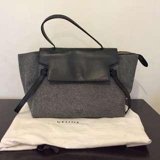 Celine Flannel Large Belt Bag