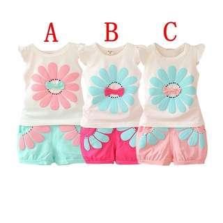 Floral 2 piece blouse n shorts
