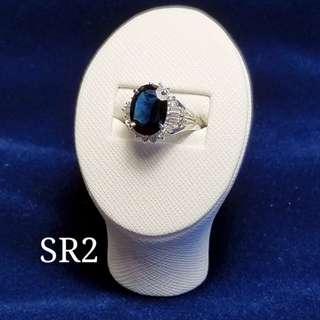 3.43卡藍寶鑽石戒指