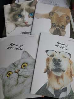 Animal paradise notebooks
