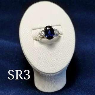 2.79卡藍寶鑽石戒指