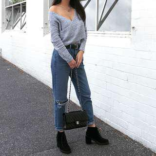 Grey knitwear