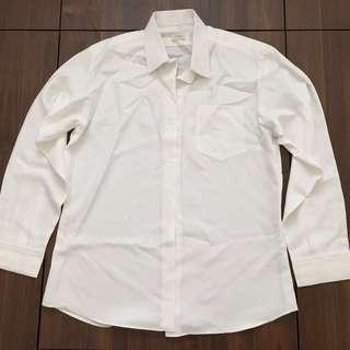 全新 白 訂製 條紋襯衫 L FIT #畢業一百元出清
