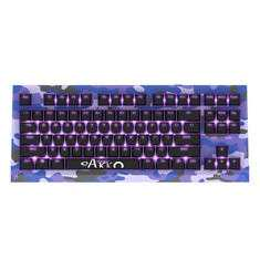 Akko AKC87 CAMO 87 Key NKRO USB Wired Purple Backlit Mechanical Gaming Keyboard