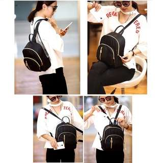 Fashion Korean small black backpack