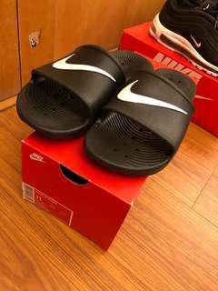 Nike 黑白 防水拖鞋 基本款 us11