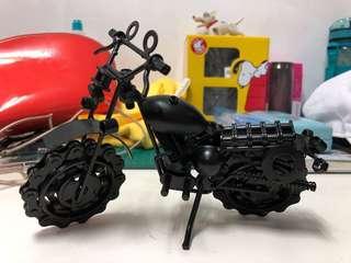 🚚 重機 野狼 擋車 模型 輪胎可動 金屬