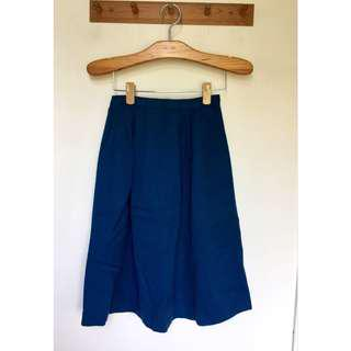 所有商品皆可議價‼️ 穿過一次 專櫃品牌 藍色過膝半裙