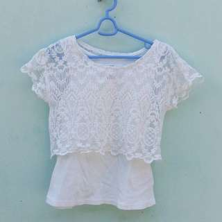 H&M lace top for girls