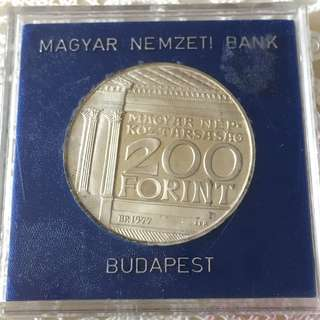 Hungary Silver Proof Commemorative National Museum 1977 200 Forint Coin