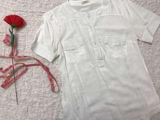 White Short Sleeves Top