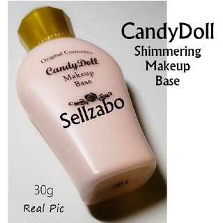 Used 1x Primer : Candydoll Shimmering Face Makeup Base Sellzabo Cosmetics Not Foundation