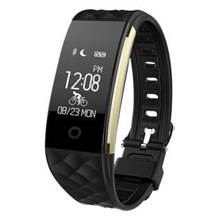 659. Bluetooth Smart Watch IP67 Waterproof Smart Bracelet Heart Rate Monitor Sports Wristband Fitness Tracker Multi-Sport Mode Health Monitor Pedometer Call Message Reminder for IOS Android Phone (Black)
