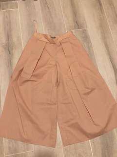 COS dusty pink wide leg pants 粉紅色闊腳褲