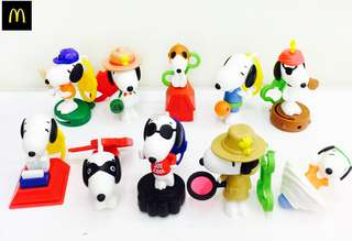 McDonald's SNOOPY Toys 1 set (10pcs)