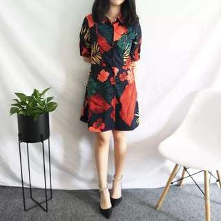 Floral Polo Dress