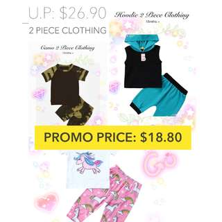 SALE! 2PC TOP+BOTTOM SET BABY CLOTHING KIDS FASHION CASUAL