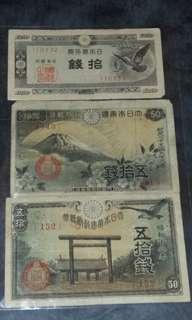 日本昭和風景紙幣套裝