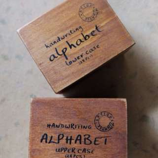 Alphabet Rubber Stamp (set of lower and upper case)