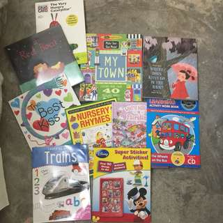 activity and story books bundle