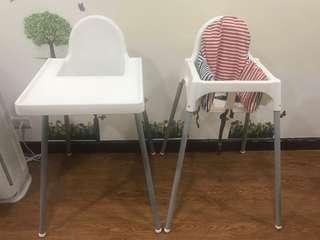 Ikea Antilop 高腳兒童餐椅(需自取)(二張餐椅可分開購買)