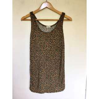 所有商品皆可議價‼️ 穿過一次 豹紋韓版背心