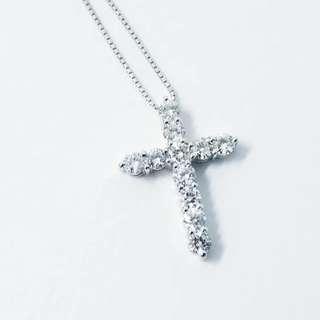 1卡鑽石十字架吊咀