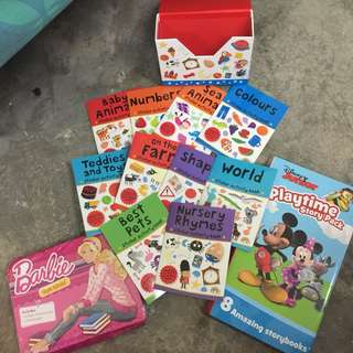stickers n story books