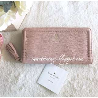 Kate Spade Orchard Street Lacey Zip Around Wallet-Dusty Pink